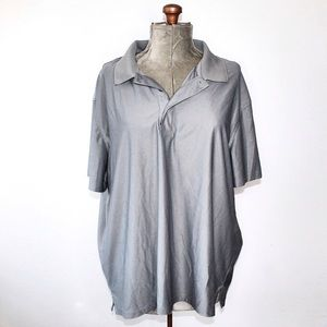 🎀3/$30 Men's George Casual Grey Collared Shirt 2X